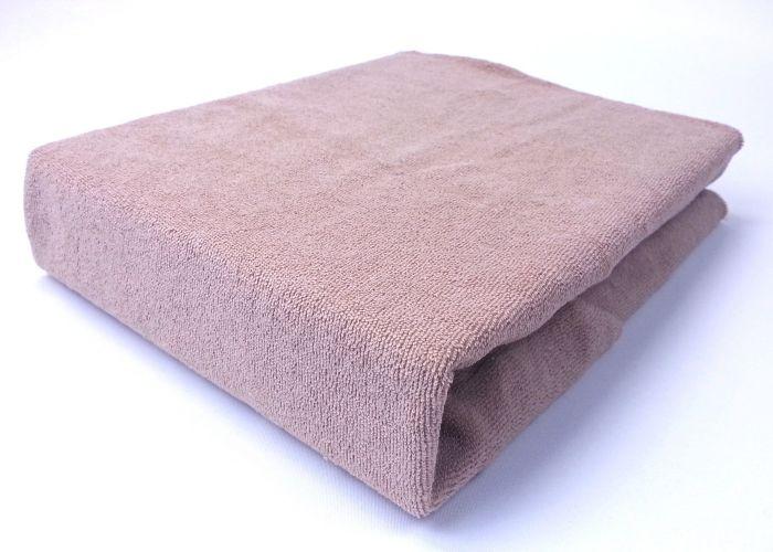 Housse de protection en éponge coton pour table de massage Mediprem -Taupe/camel -70 x 188 cm