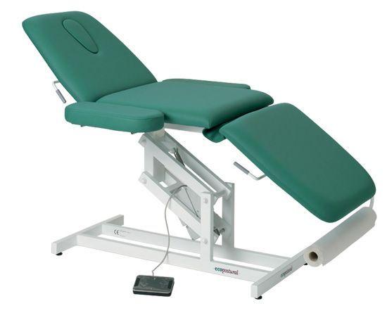 Ecopostural 3 częściowy, elektryczny stół do masażu z podłokietnikami 3589 H C3589M41