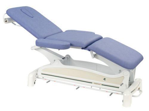 Ecopostural 3 częściowy, elektryczny stół do masażu z zaokrąglonym szynowym kontrolerem obsługiwanym nogami C3556