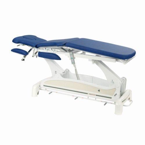 Ecopostural wielofunkcyjny, elektryczny stół do masażu, z podłokietnikami i zaokrąglonym szynowym kontrolerem obsługiwanym nogami C3531M47