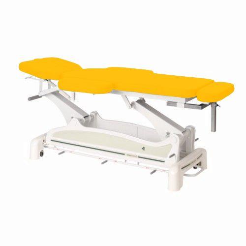 Ecopostural Elektryczny stół do masażu z podłokietnikami i zaokrąglonym szynowym kontrolerem obsługiwanym nogami C3535M24
