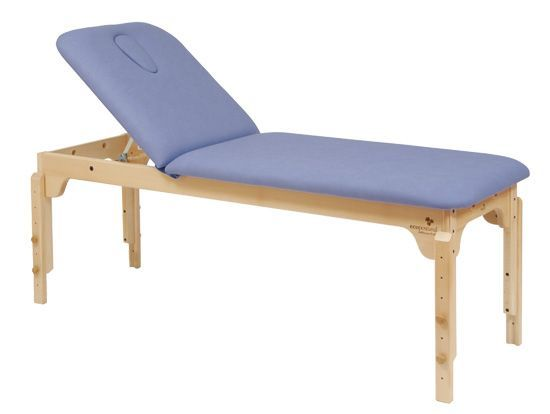 Ecopostural drewniany stół do masażu z regulowaną wysokością C3120