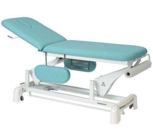 Ecopostural Dwupłaszczyznowy, elektryczny stół do masażu z podłokietnikami C3554