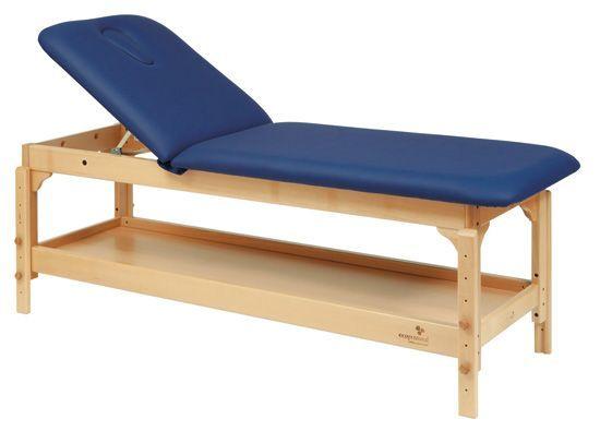 Ecopostural drewniany stół do masażu z regulowaną wysokością C3220
