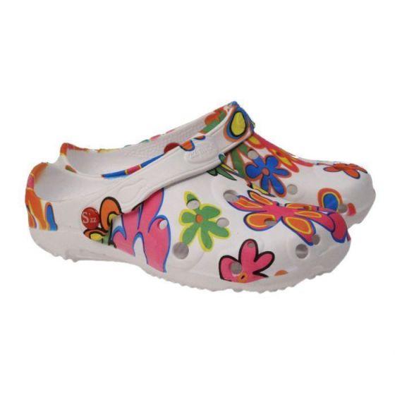 Big flower damskie obuwie medyczne clogs