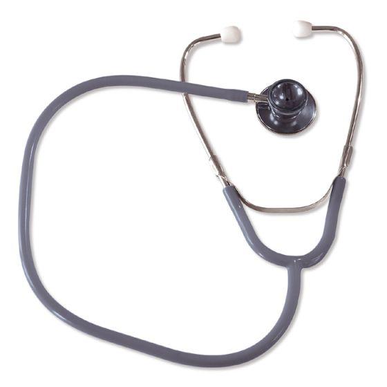 Stetoskop idealny dla dorosłych z dwustronną głowicą-szary