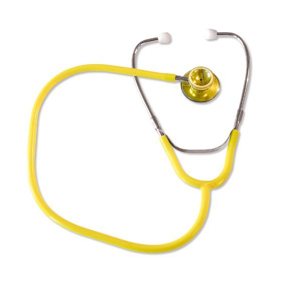Stetoskop idealny dla dorosłych z dwustronną głowicą-żółty