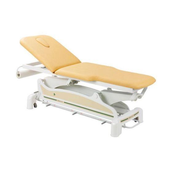 Ecopostural Dwupłaszczyznowy, elektryczny stół do masażu z wąskim zakończeniem i podłokietnikami C3562M44